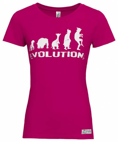 "Damen T-Shirt ""EVOLUTION"" by Otto Waalkes"