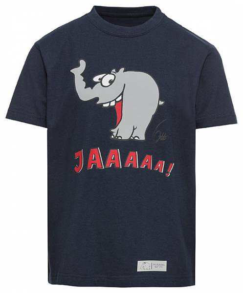 "Kinder T-Shirt ""Lachender Ottifant"" in denim by Otto Waalkes"