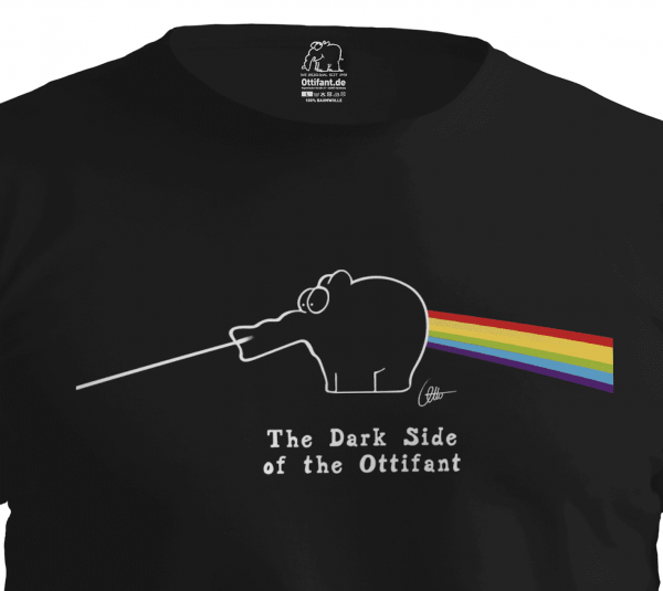 """T-Shirt """"Dark Side of the Ottifant"""" Unisex by Otto Waalkes"""