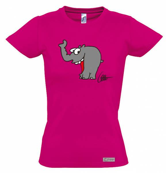 "Damen T-Shirt ""Lachender Ottifant"""